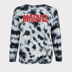 torrid Sweaters - Torrid size 4 Marvel tie dye shirt with knot